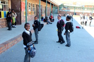 Most students at Skeen Primary School wear the same uniform everyday.  Photo by Isaac Riddle